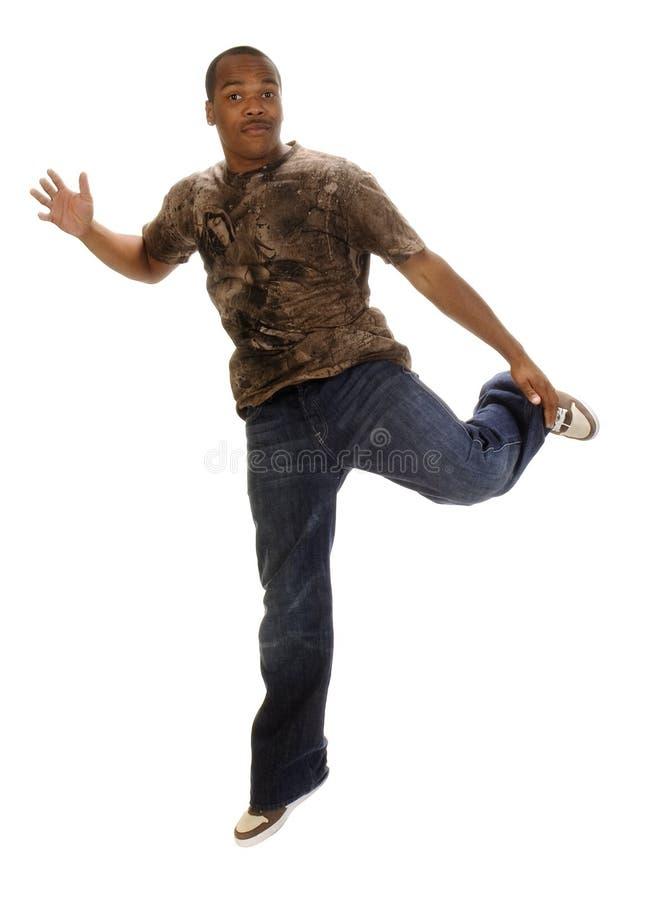 Baile joven del hombre del afroamericano imágenes de archivo libres de regalías