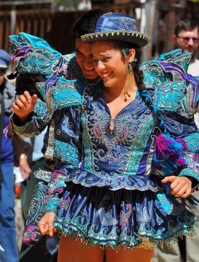 Baile peruano fotografía de archivo libre de regalías