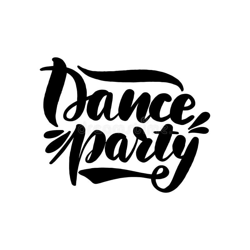 Baile que pone letras a la tarjeta de felicitación stock de ilustración