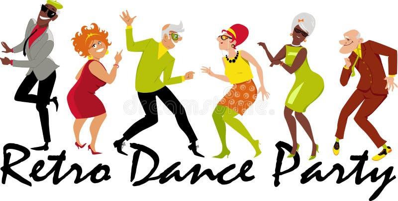 Baile retro stock de ilustración