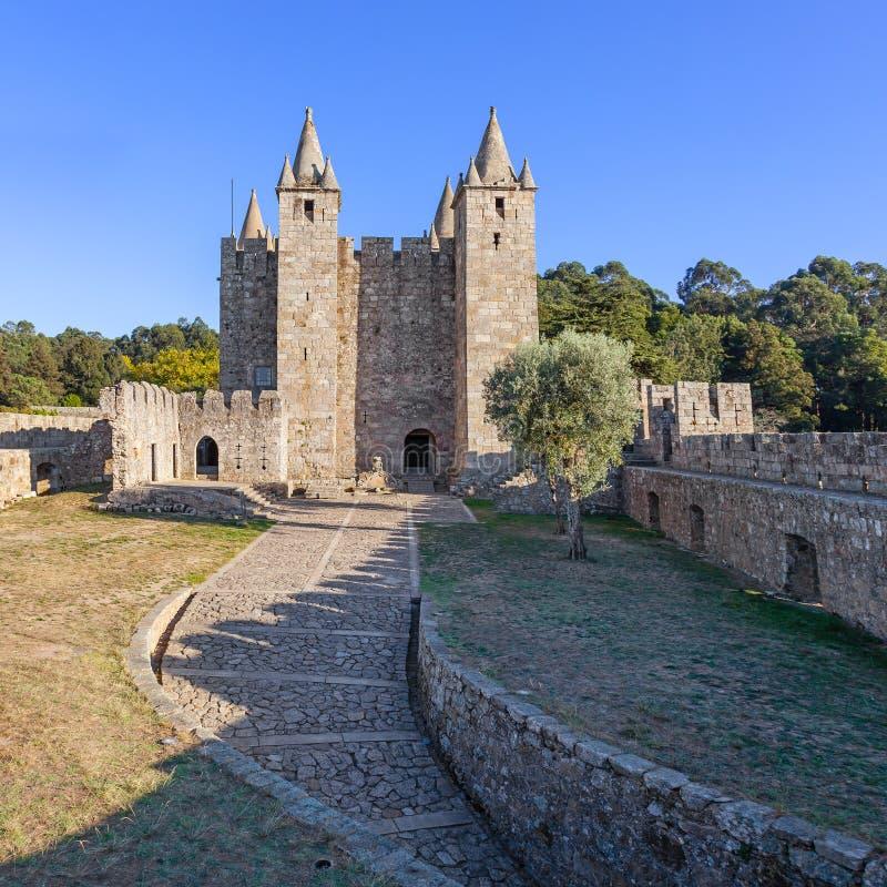 Bailey and keep of the Santa Maria da Feira Castle. Santa Maria da Feira, Portugal - October, 2015: Bailey and keep of the Santa Maria da Feira Castle royalty free stock image