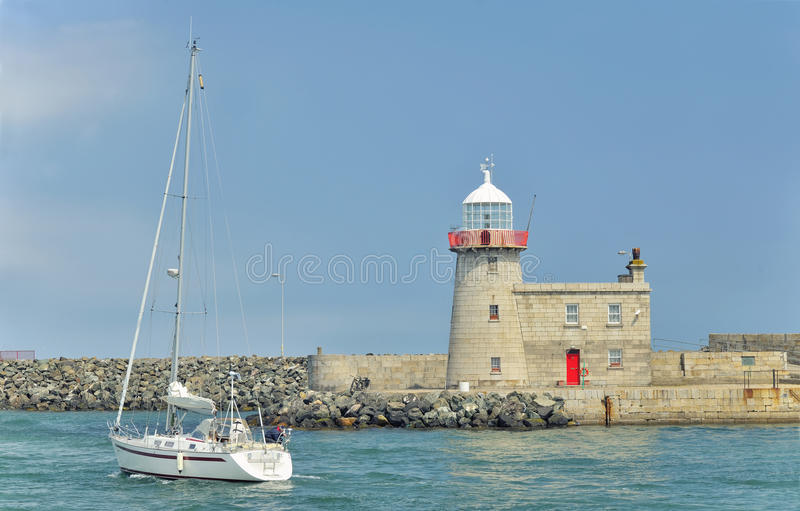 Bailey Lighthouse, Howth foto de stock
