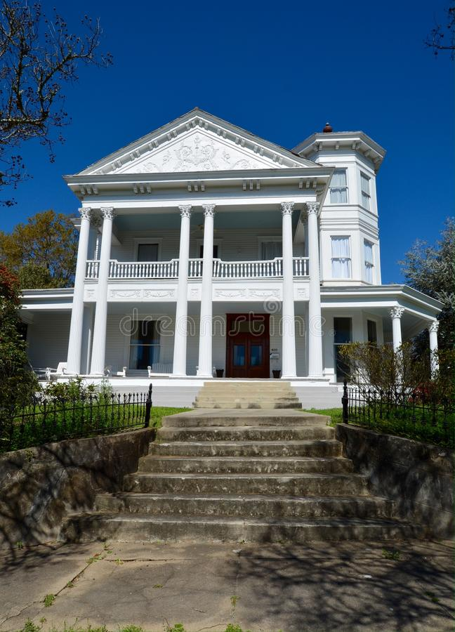 Bailey Mansion. This is a Spring picture of the Jacob Bailey House in Natchez, Mississippi. The house on a hill built in 1897 is an example of the Colonial royalty free stock photography