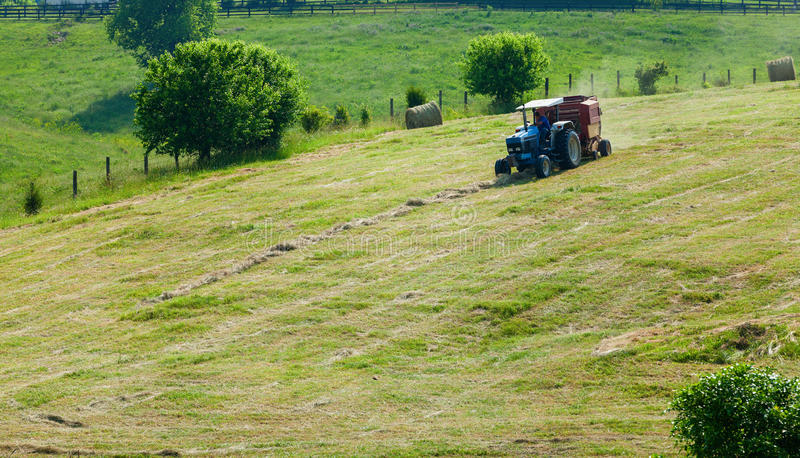 Download Bailing hay stock photo. Image of mechanical, working - 29394680