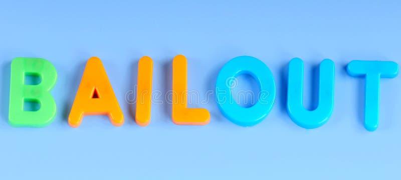 Bailout in magneten stock afbeeldingen