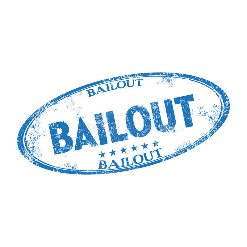 Bailout rubber stamp stock image