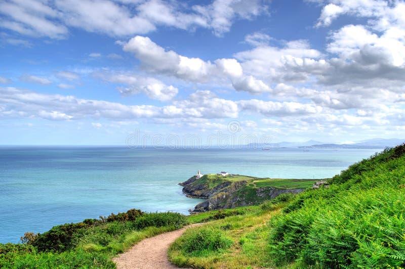 Baily灯塔在Howth,爱尔兰 免版税库存图片