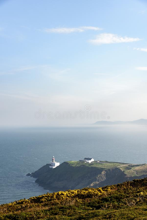 Baily fyr, Howth Irland fotografering för bildbyråer