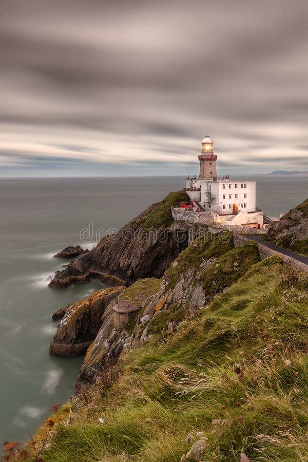 Baily lighthouse. Dublin Howth. Ireland. royalty free stock image