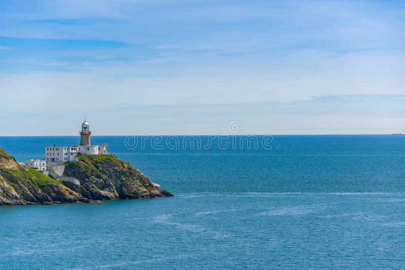Baily Lighthouse, Howth Head in Dublin,. Baily Lighthouse on the southeastern part of Howth Head in Dublin stock image