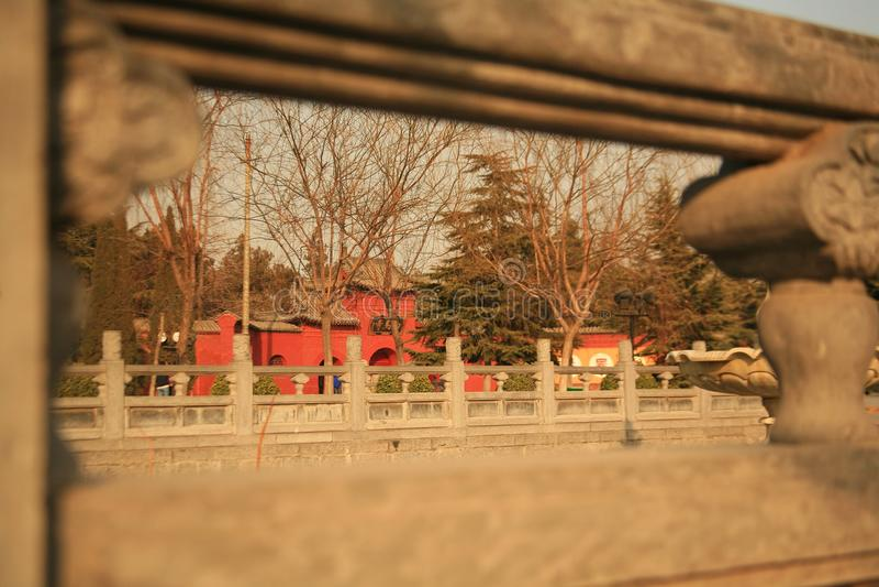 Baimatempel in Luoyang stock foto's