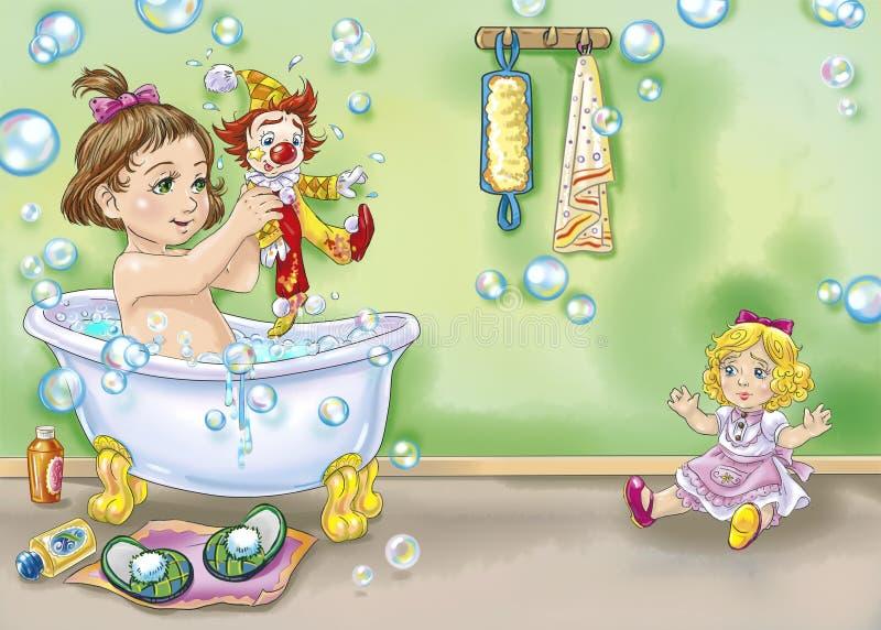 bain illustration libre de droits