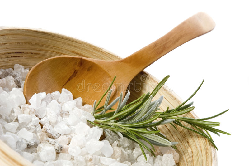Bain de Rosemary. aromatherapy photo stock