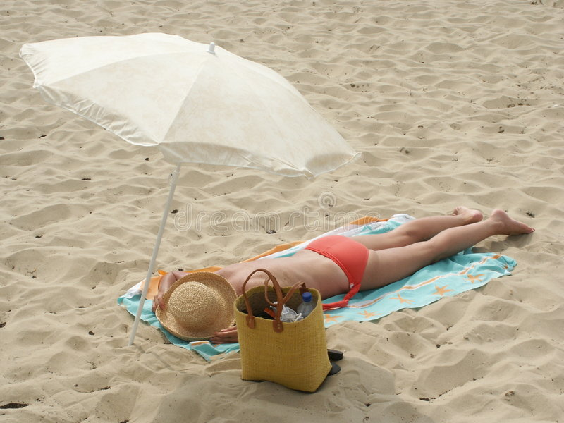 Bain de Sun photographie stock libre de droits