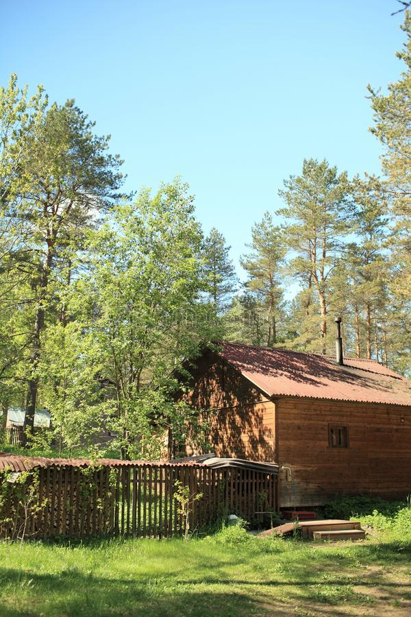 Bain en bois rural photo libre de droits