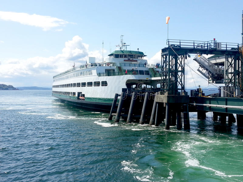 Bainbridge Ferry at Dock stock images