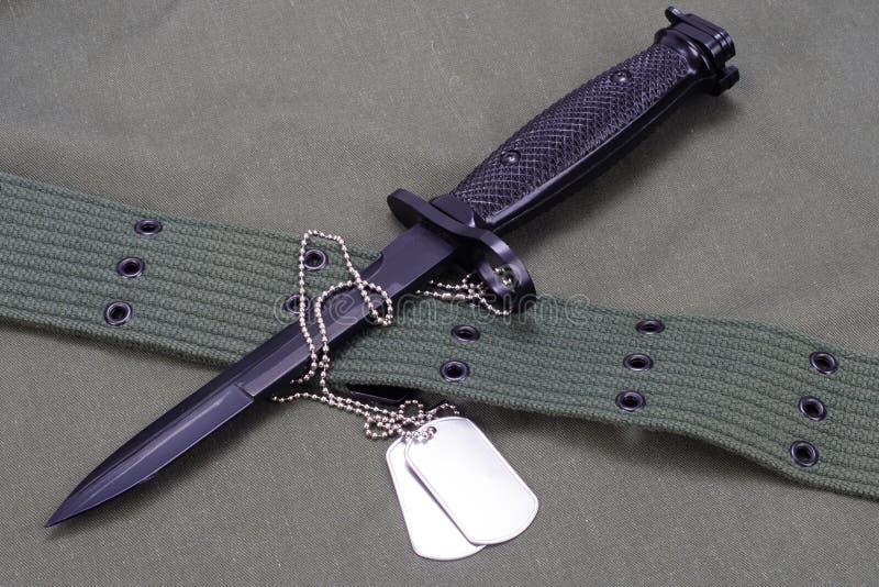 baionetta con l'ESERCITO AMERICANO immagine stock