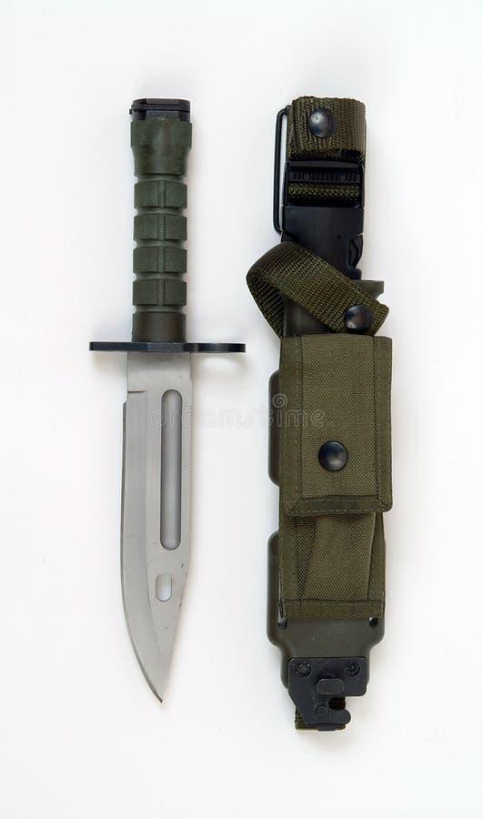 Baionetta moderna dell'americano M9 immagini stock