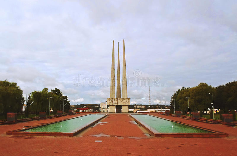 Baionette commemorative del complesso tre fotografia stock libera da diritti