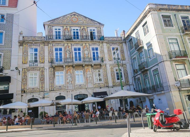 Bairro alt, Lissabon, Portugal royaltyfria bilder