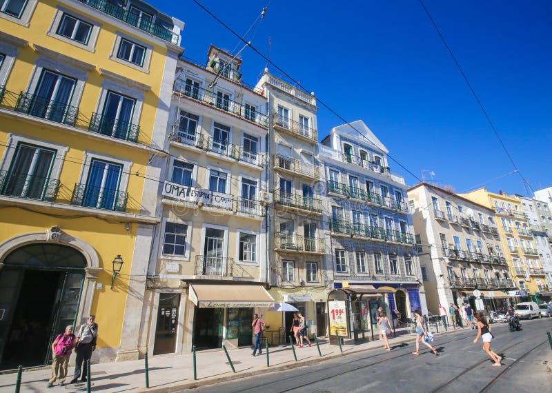 Bairro alt, Lissabon, Portugal royaltyfri fotografi