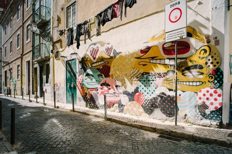 Bairro Alto - Lisbon, Portugal stock photo