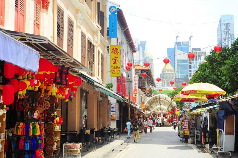 Bairro chinês de Singapura fotos de stock