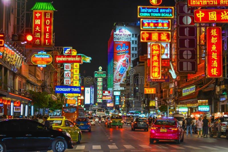 Bairro chinês em Banguecoque - Tailândia fotos de stock