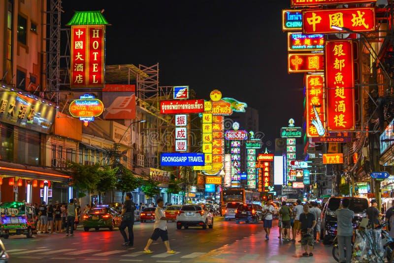 Bairro chinês em Banguecoque - Tailândia imagem de stock royalty free