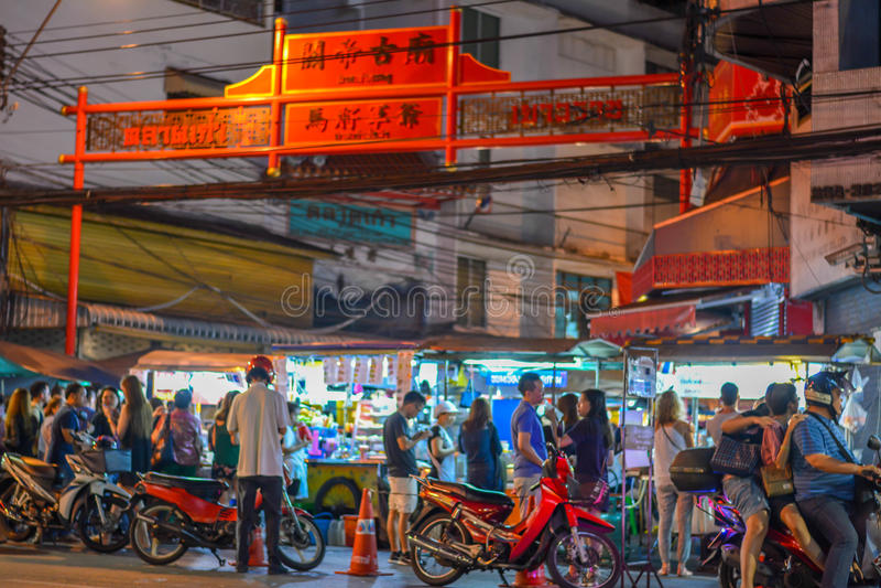 Bairro chinês em Banguecoque - Tailândia imagens de stock