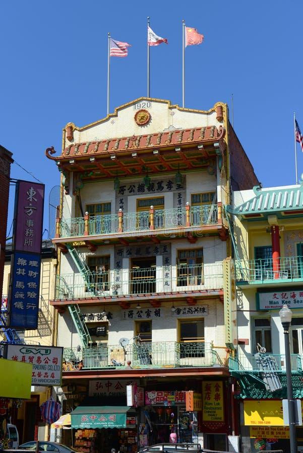 Bairro chinês em San Francisco, Califórnia imagens de stock