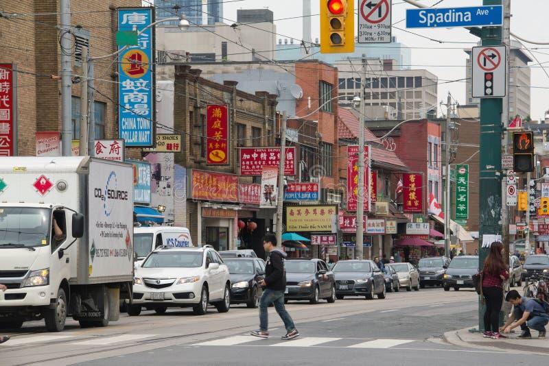 Bairro chinês, Toronto fotografia de stock royalty free