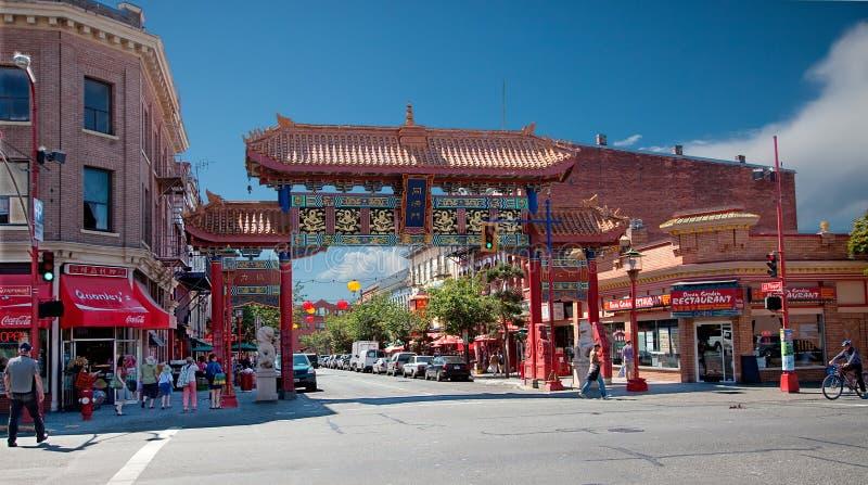 Bairro chinês, Victoria, Columbia Britânica, Canadá imagens de stock royalty free