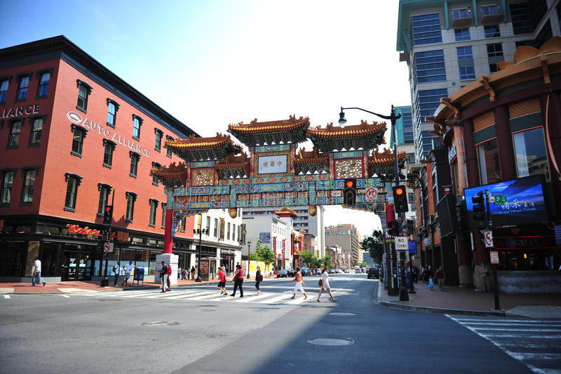 Bairro chinês - Washington DC imagem de stock royalty free