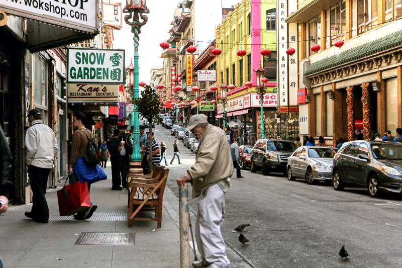 Bairro chin?s colorido em San Francisco, Calif?rnia fotos de stock royalty free