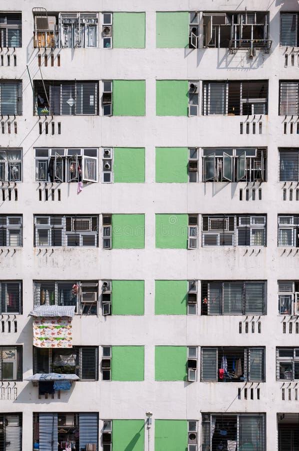 Bairro social high-density, lata de Sha, Hong Kong fotos de stock royalty free