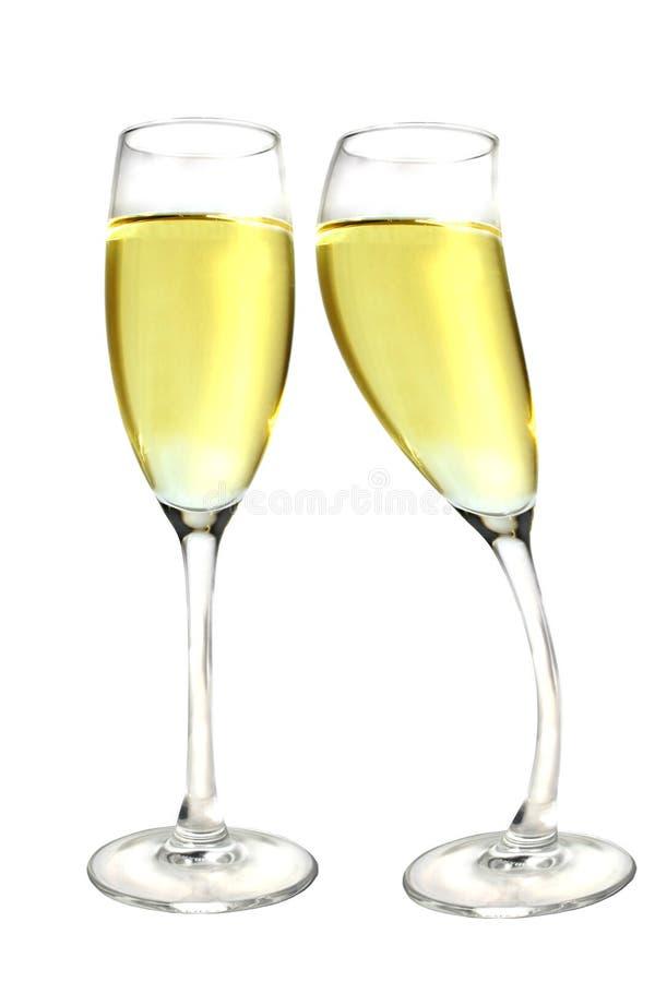 Baiser de Champagne images libres de droits