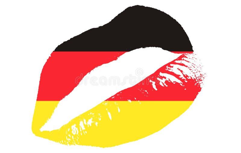 Baiser de l'Allemagne illustration de vecteur