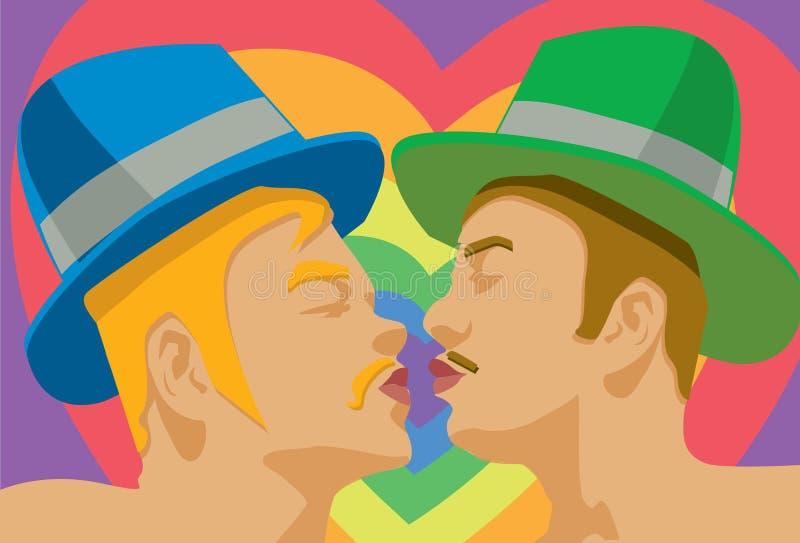 Baiser homosexuel illustration libre de droits