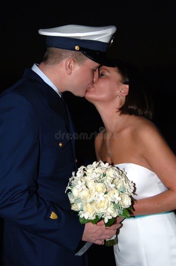 Baiser Wedding photo libre de droits