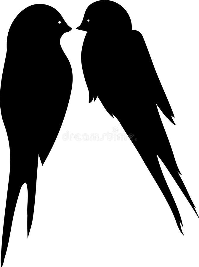 Baisers des oiseaux d'amour illustration libre de droits