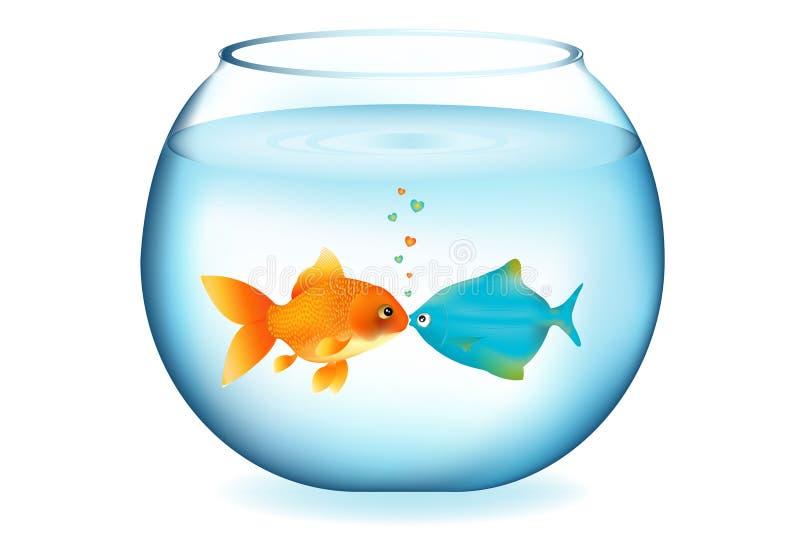Baisers des poissons. Vecteur illustration de vecteur