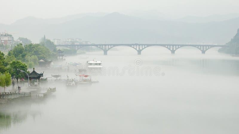 White sand fog royalty free stock photos