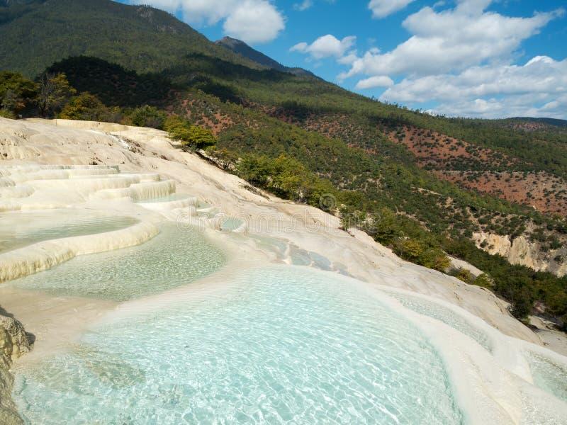 baishuitai tarasu wody biel zdjęcie royalty free
