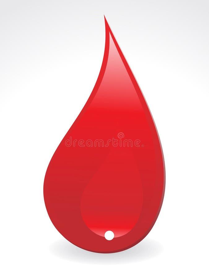 Baisse abstraite de sang illustration stock