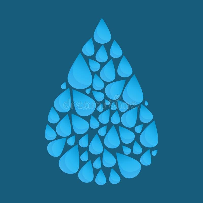 Baisse bleue de l'eau de vecteur illustration stock
