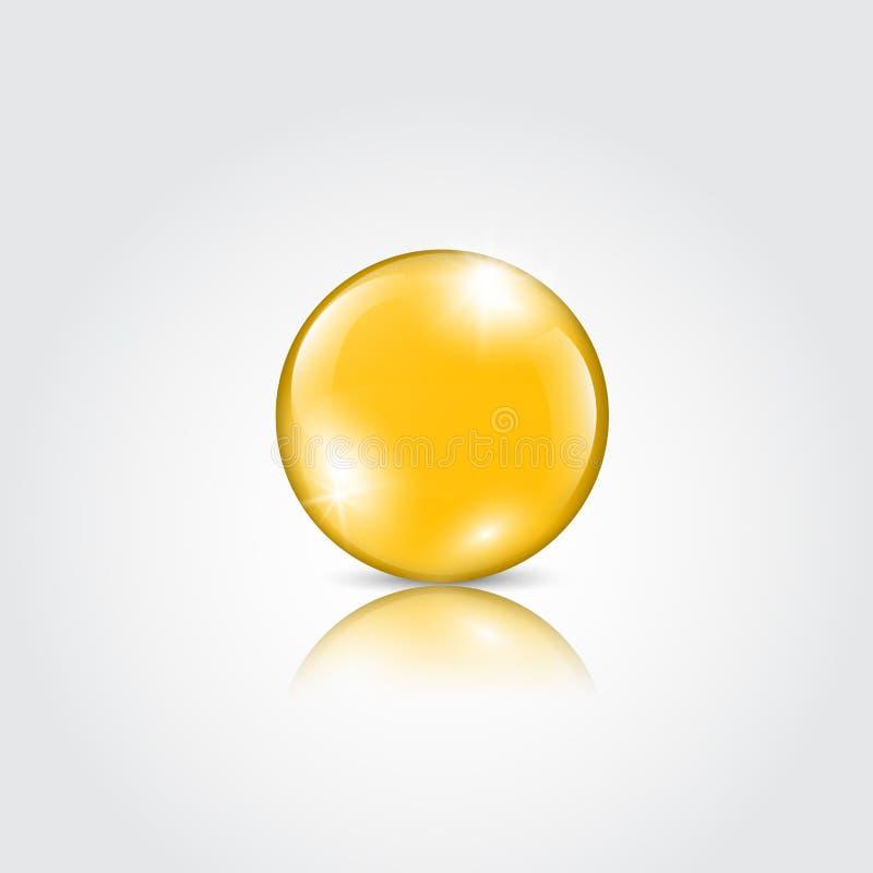 Baisse d'or d'essence d'huile illustration de vecteur