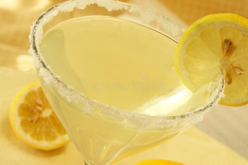 Baisse de citron Martini photo stock