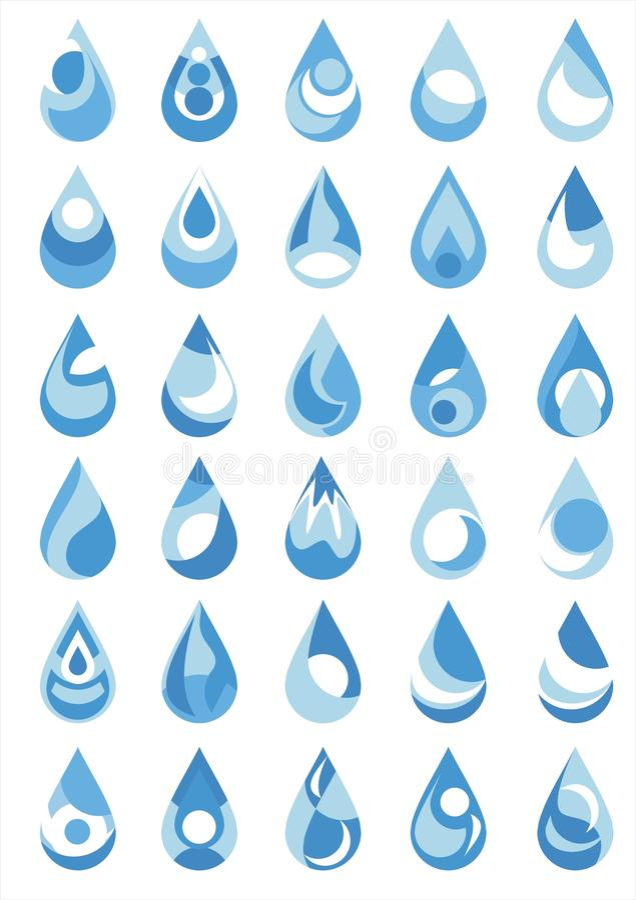 Baisse de l'eau illustration stock