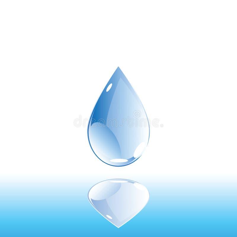 Baisse de l'eau illustration libre de droits